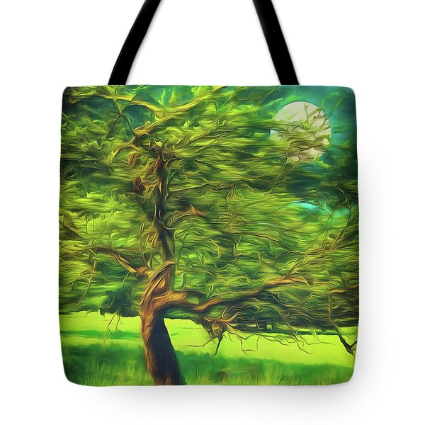 Bowing To The Moon Tote Bag