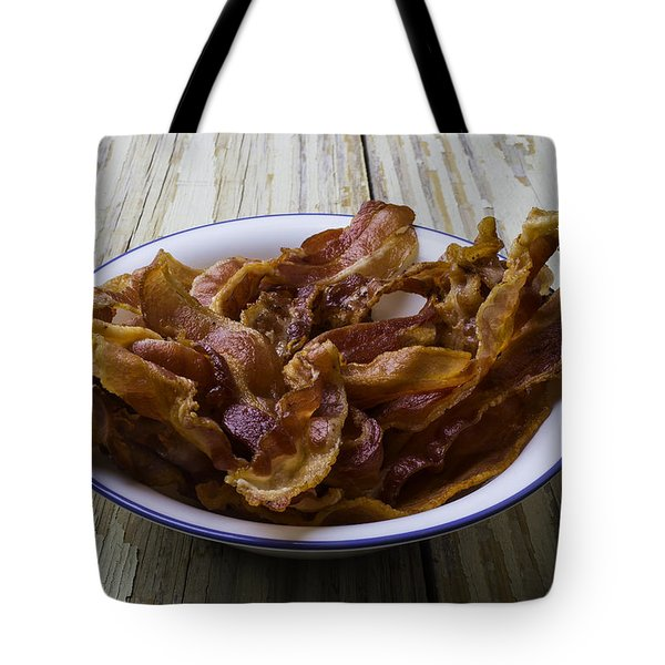 Bowl Of Bacon Tote Bag