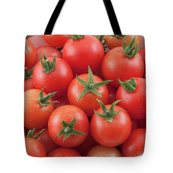 Tote Bag featuring the photograph Bowl Of Cherry Tomatoes by James BO Insogna