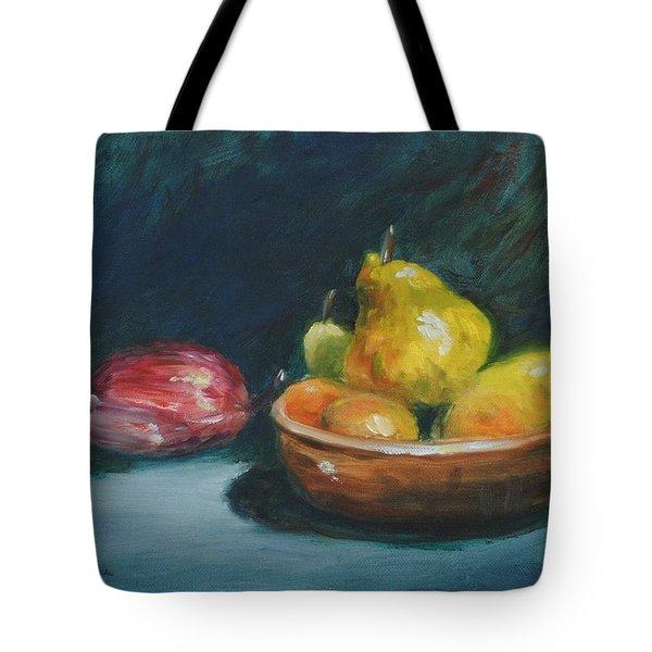 Bowl Of Fruit By Alan Zawacki Tote Bag