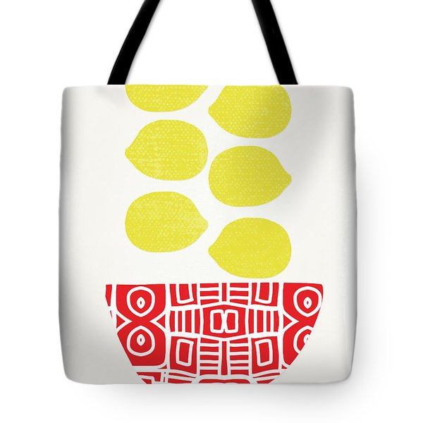 Bowl Of Lemons- Art By Linda Woods Tote Bag
