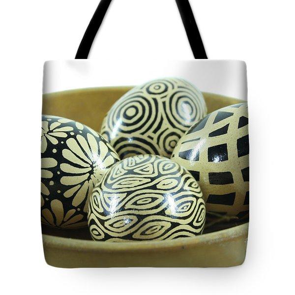Bowl Of Modern Brown Pysanky Tote Bag