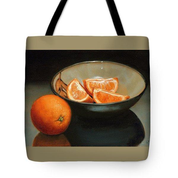 Bowl Of Oranges Tote Bag