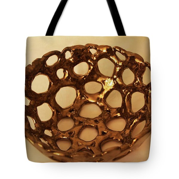 Bowle Of Holes Tote Bag by Itzhak Richter