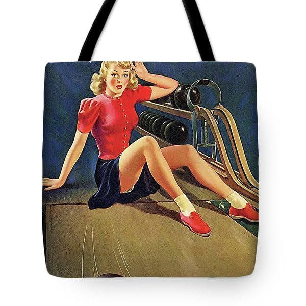 Bowling Accident Tote Bag