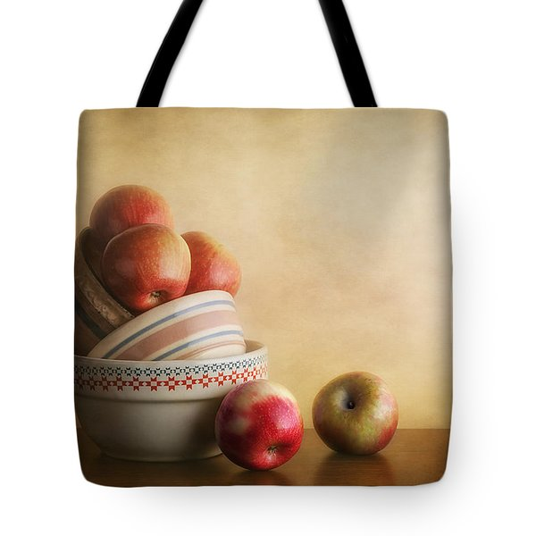 Bowls And Apples Still Life Tote Bag