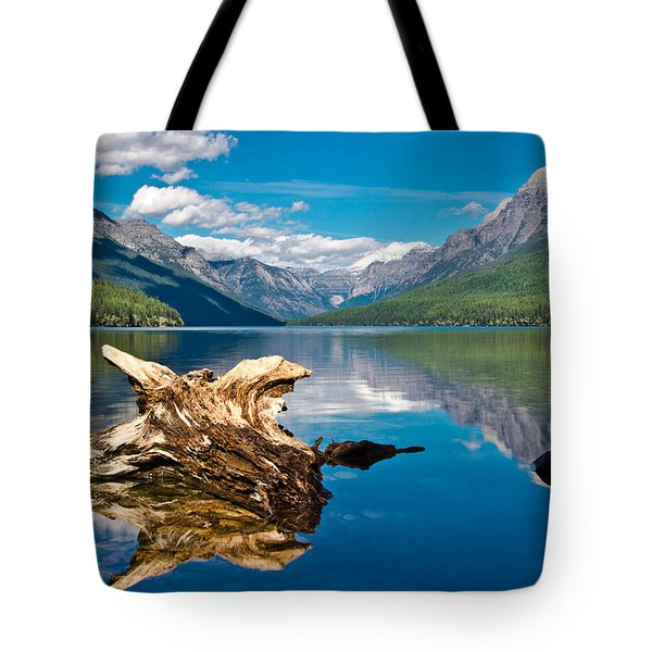 Bowman Lake 1, Glacier Nat'l Park Tote Bag