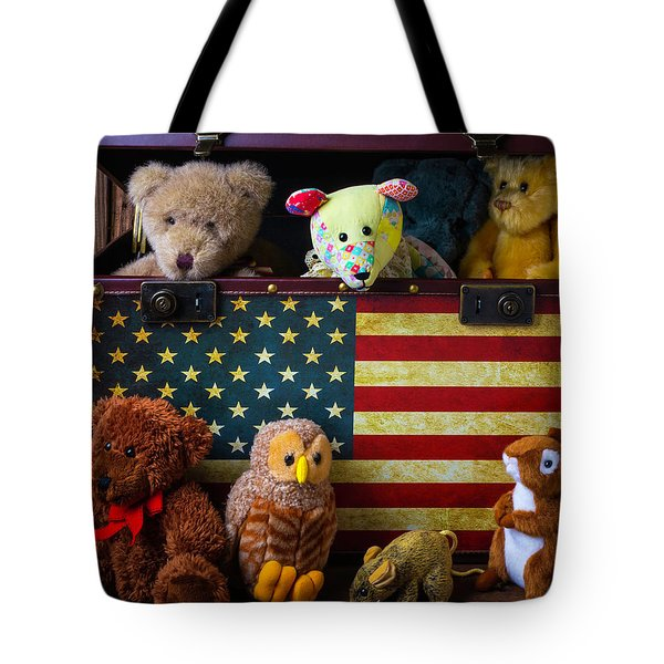 Box Full Of Bears Tote Bag by Garry Gay