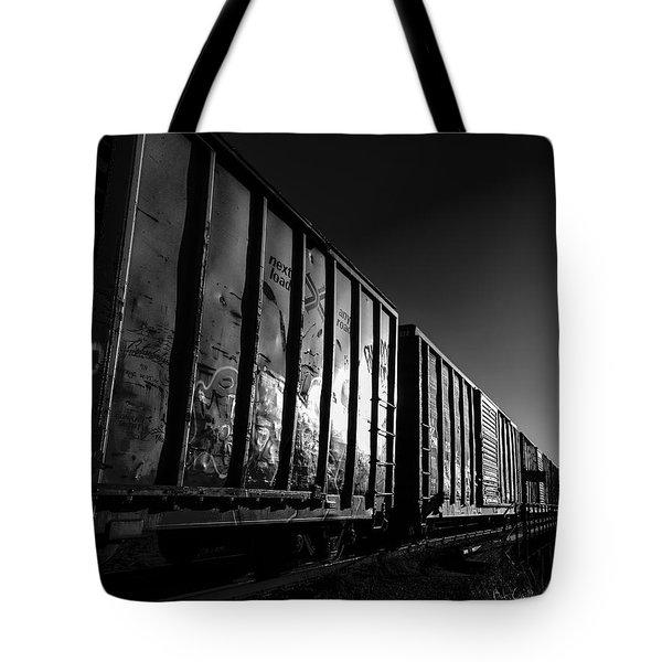 Boxcar Sunrise Tote Bag by Bob Orsillo