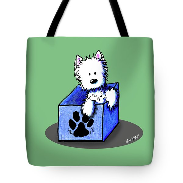 Boxed In Cuteness Tote Bag by Kim Niles
