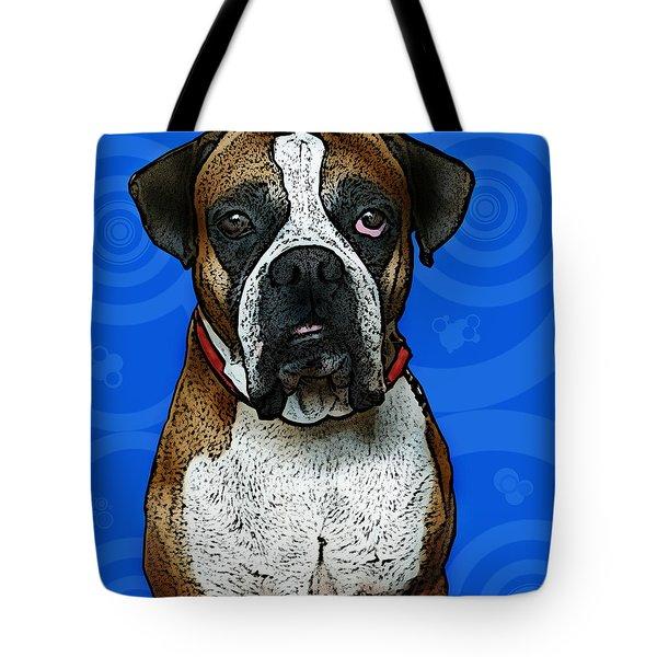 Boxer Tote Bag by Bibi Rojas
