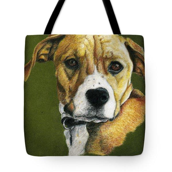 Boxer Boy Tote Bag by Claire Muller