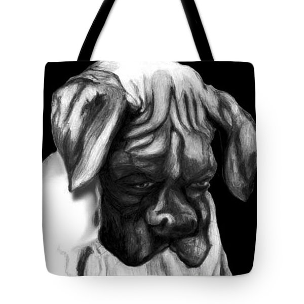 Boxer Puppy Tote Bag by Enzie Shahmiri