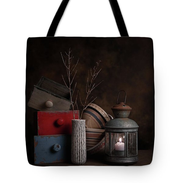 Tote Bag featuring the photograph Boxes And Bowls by Tom Mc Nemar