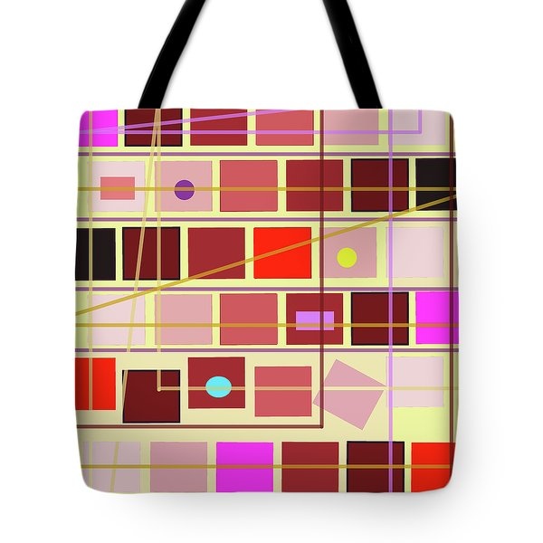 Boxes And Lines Tote Bag