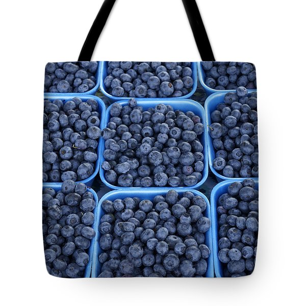 Boxes Of Blueberries Tote Bag