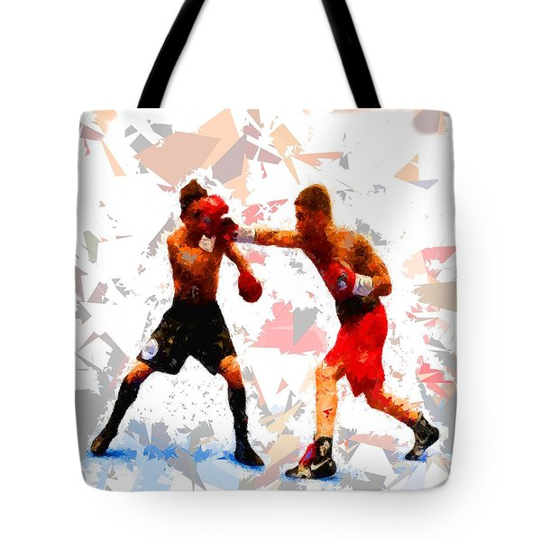Tote Bag featuring the painting Boxing 113 by Movie Poster Prints