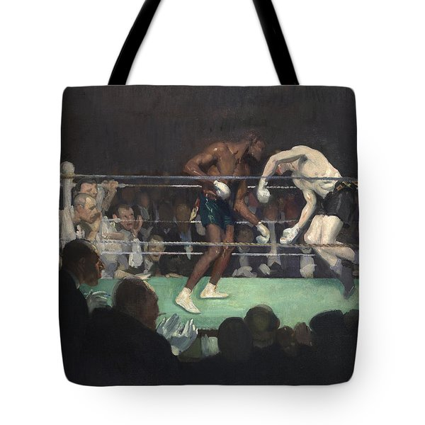 Boxing Match Tote Bag by George Luks