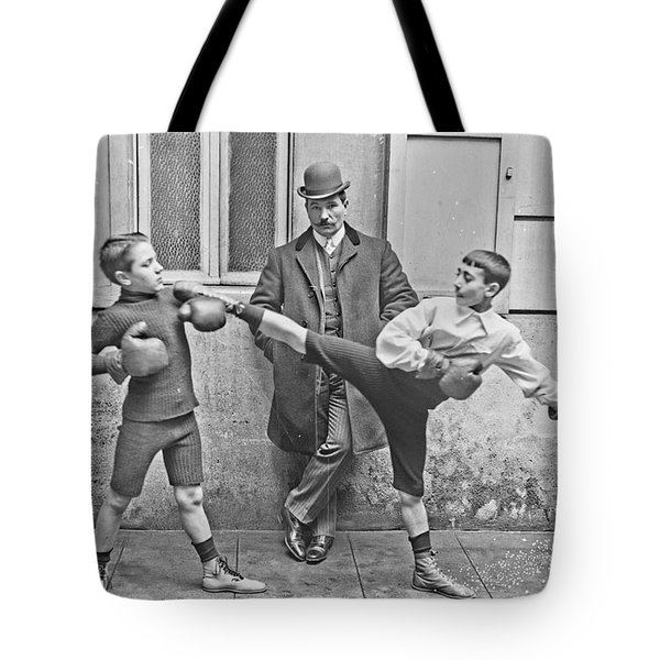 Boxing Under Eyes Of Master, 1904 Tote Bag