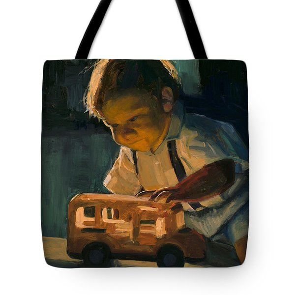 Boy And Their Toys Tote Bag