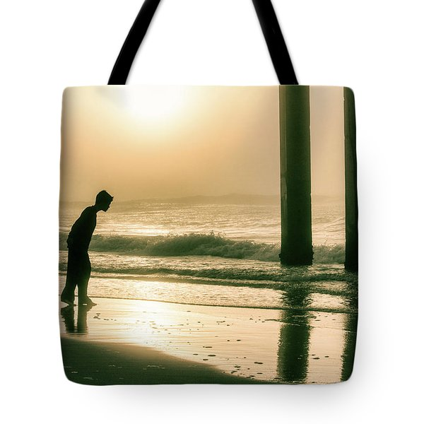 Tote Bag featuring the photograph Boy At Sunrise In Alabama  by John McGraw
