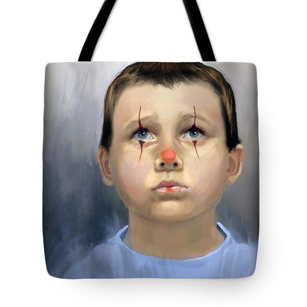 Boy Clown Tote Bag