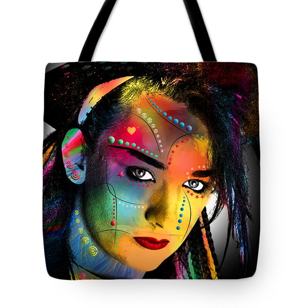 Boy George  Tote Bag by Mark Ashkenazi