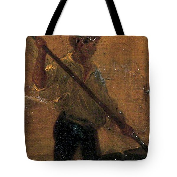 Tote Bag featuring the painting Boy In A Punt by Henry Scott Tuke