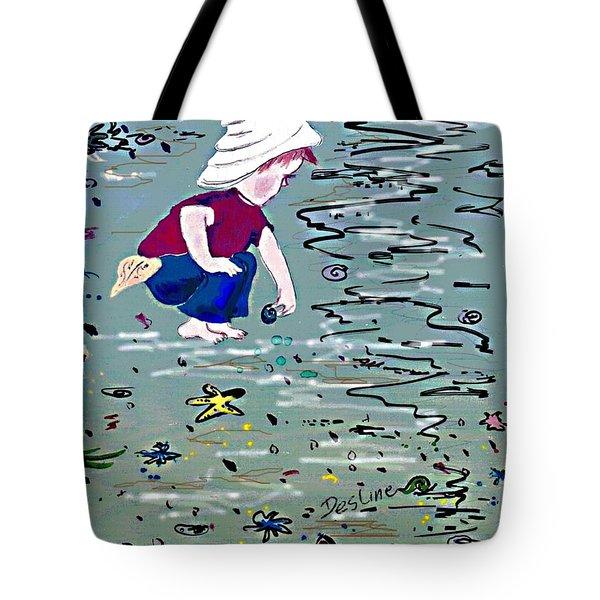 Boy On Beach Tote Bag by Desline Vitto