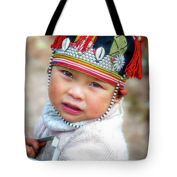 Boy With A Red Cap. Tote Bag
