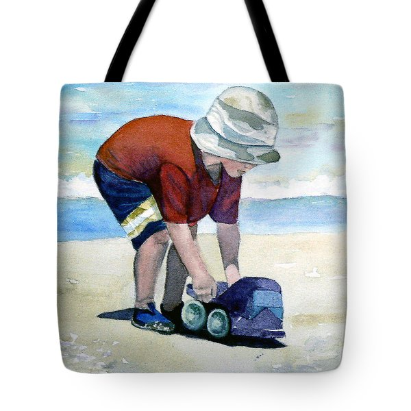 Boy With Truck Tote Bag