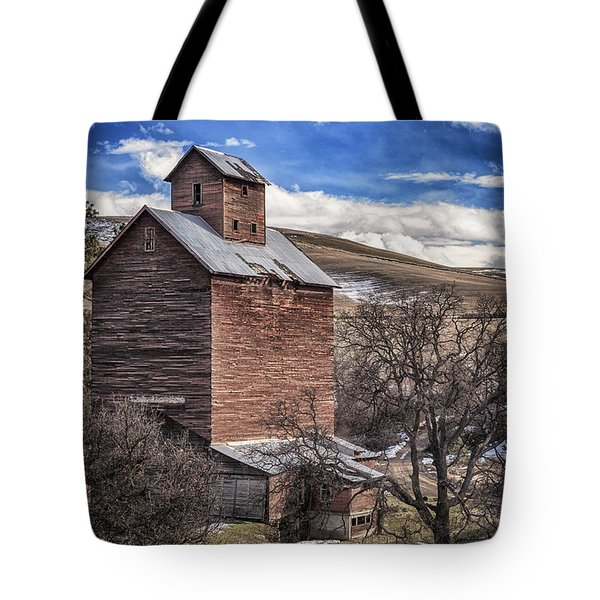Tote Bag featuring the photograph Boyd Flour Mill by Cat Connor