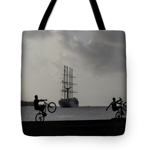 Tote Bag featuring the photograph Boys At Play by Sharon Jones