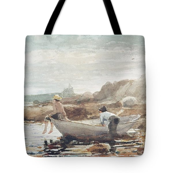 Boys On The Beach Tote Bag