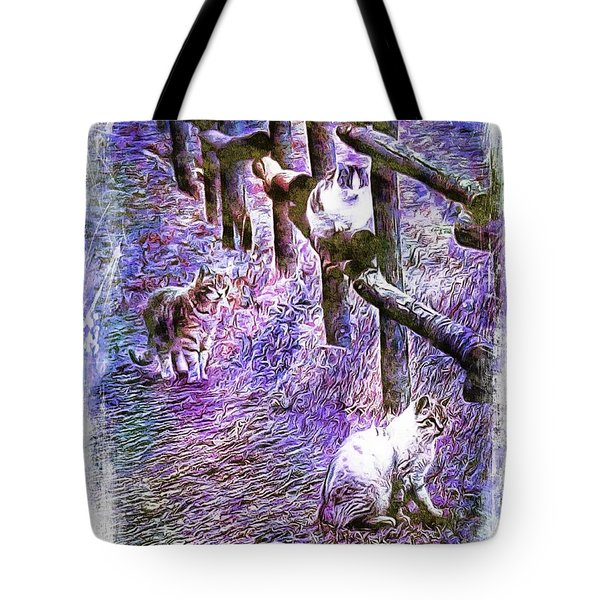 Boys On The Prowl Tote Bag