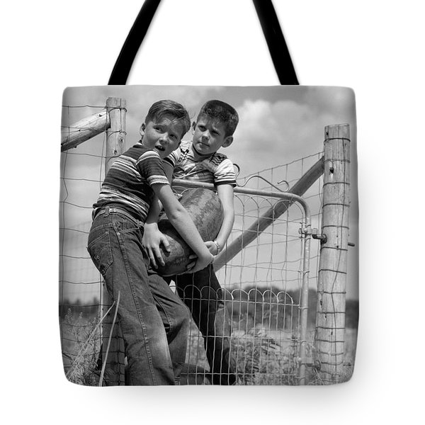 Boys Stealing A Watermelon, C.1950s Tote Bag by H. Armstrong Roberts/ClassicStock