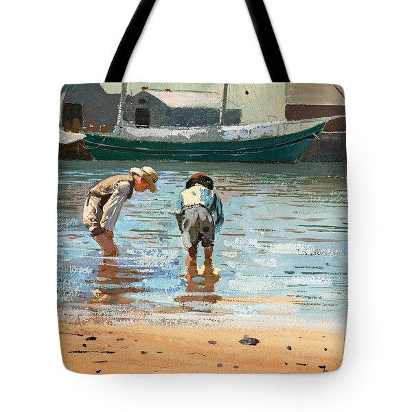Boys Wading Tote Bag
