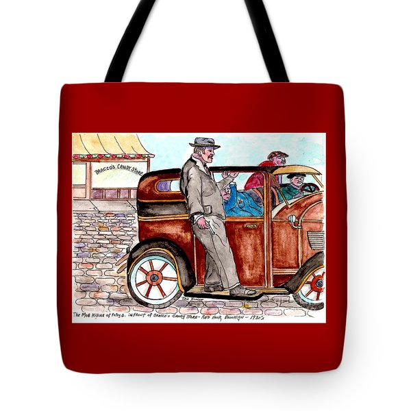 Bracco Candy Store - Window To Life As It Happened Tote Bag by Philip Bracco