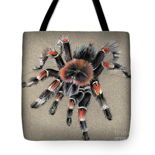 Brachypelma Smithi  Mexican Red Knee Tarantula Tote Bag