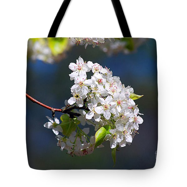Tote Bag featuring the photograph Bradford Pear Blossoms 20120402_116a by Tina Hopkins