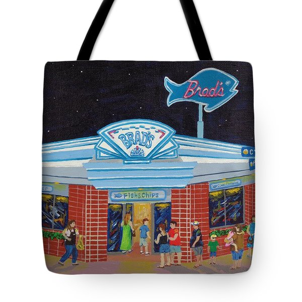 Tote Bag featuring the painting Brad's Pismo Beach California by Katherine Young-Beck