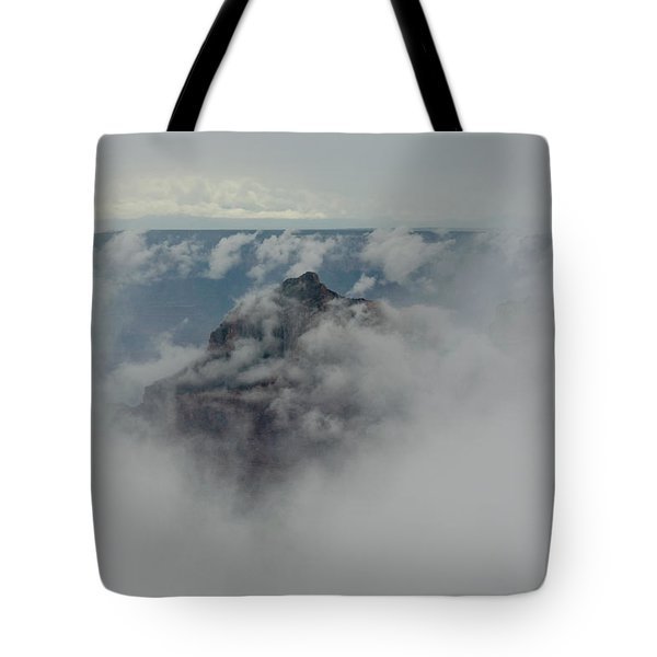 Brahma Temple In A Sea Of Clouds Tote Bag