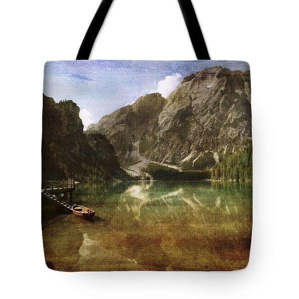 Braies Lake Tote Bag