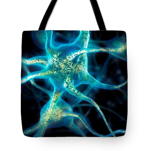 Brain Cell Neurons Tote Bag