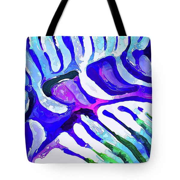 Brain Coral Abstract 5 In Blue Tote Bag