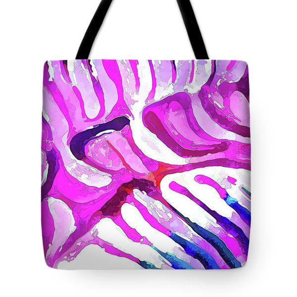 Brain Coral Abstract 7 In Pink Tote Bag