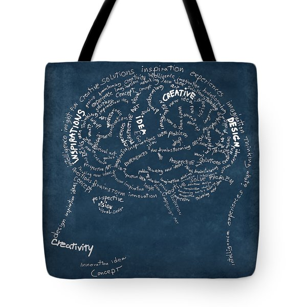Brain Drawing On Chalkboard Tote Bag by Setsiri Silapasuwanchai