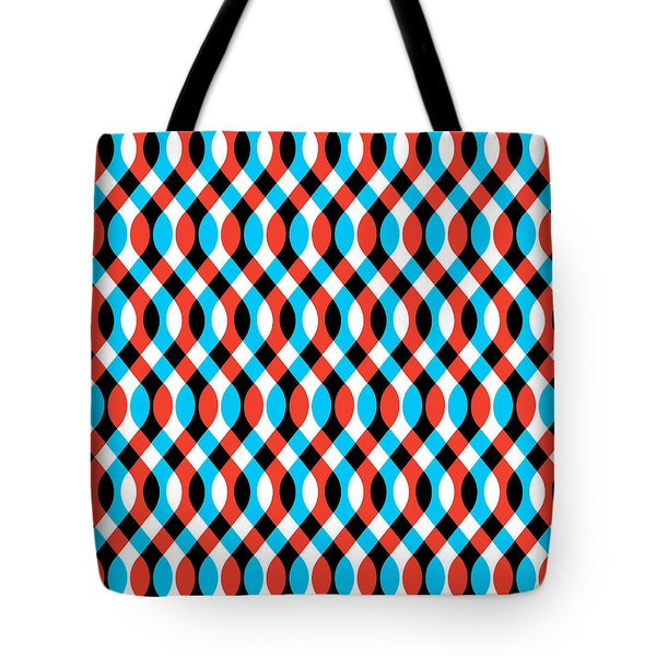 Brain Waves - Blue Tote Bag