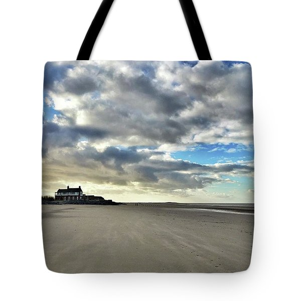 Brancaster Beach This Afternoon 9 Feb Tote Bag by John Edwards