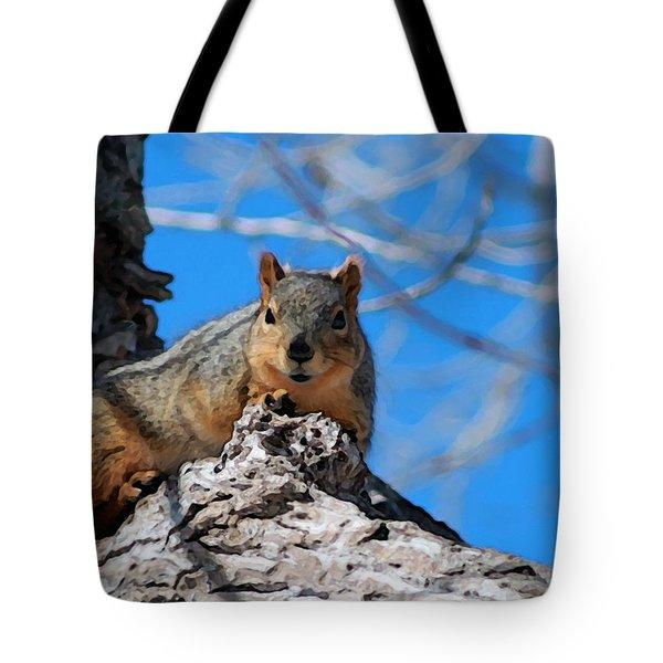 Branch Squirrel Tote Bag